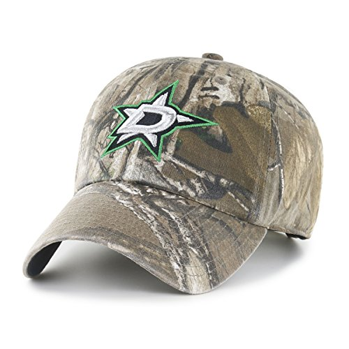 NHL Dallas Stars Realtree OTS Challenger Adjustable Hat, Realtree Camo, One (Old Time Hockey Stanley Cup)