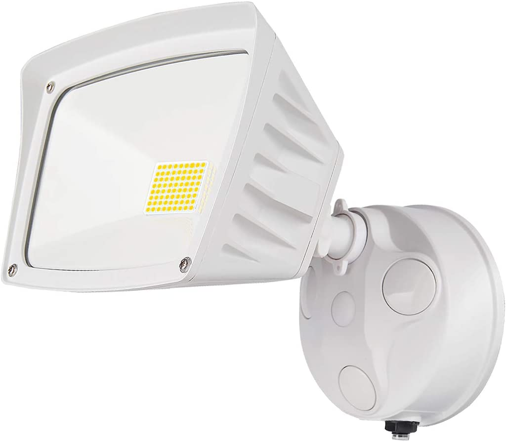 LEPOWER 28W LED Security Lights Motion Sensor Light Outdoor, 3000LM Motion Security Light, 5500K, IP65 Waterproof, 2 Head Motion Detector Flood Light for Garage, Yard, Entryways NOT Solar Powered