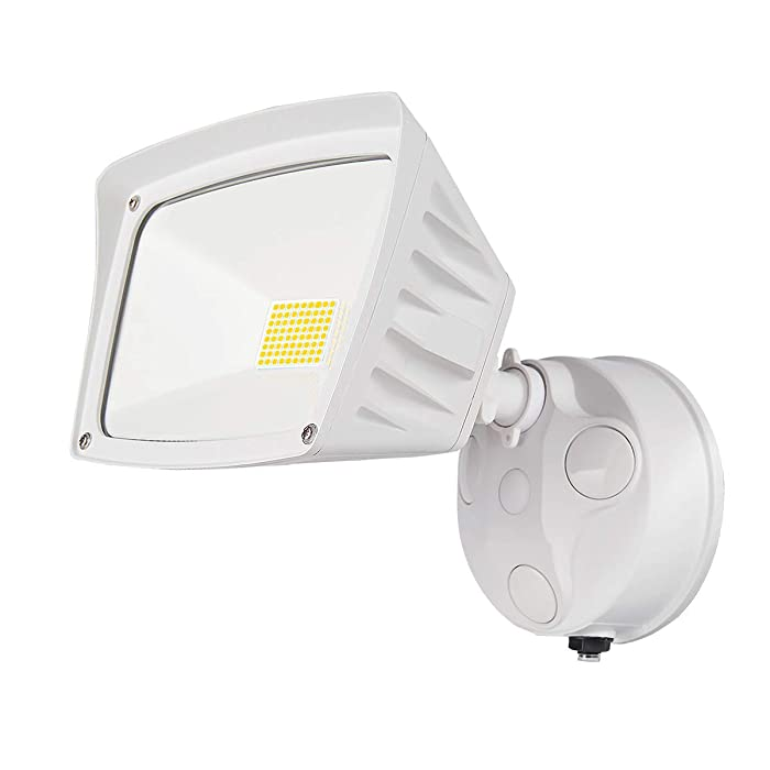 JJC Security Lights Outdoor Flood Light LED Dusk to Dawn Photocell Sensor Waterproof 28W(250W Equiv.)5000K-Daylight 3400LM DLC Certified&ETL-Listed