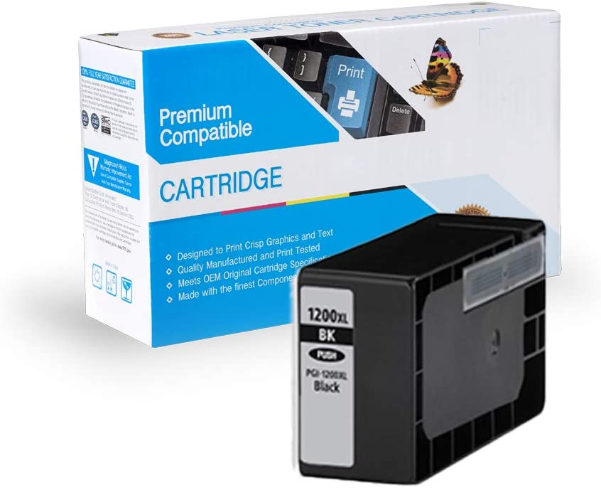 Black, 3 Pack 9183B001 MS Imaging Supply Compatible Inkjet Cartridge Replacement for Canon PGI-1200XL Bk