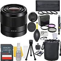Sony FE 28mm f/2 Full Frame E-Mount Prime Lens + Deluxe Lens Bundle