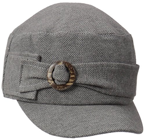 D&Y Women's Solid Woven Cadet Hat with Ring Buckle
