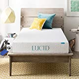 Lucid 8 Inch Memory Foam Mattress, Dual-Layered, CertiPUR-US Certified, Medium-Firm Feel, Twin Size