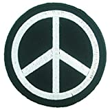 big minnie mouse iron on patches - Peace Sign Black and White Logo Iron on Embroidered Patches