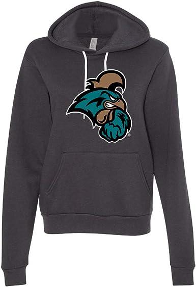 NCAA Coastal Carolina Chanticleers 50//50 Blended 8-Ounce Vintage Arch Crewneck Sweatshirt