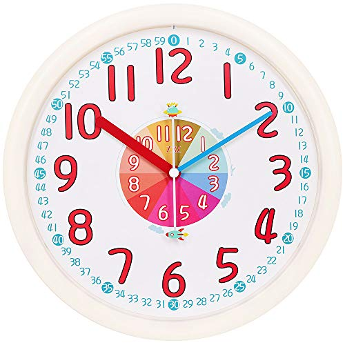 TXL Kids Wall Clock Baby Nursery Large 12