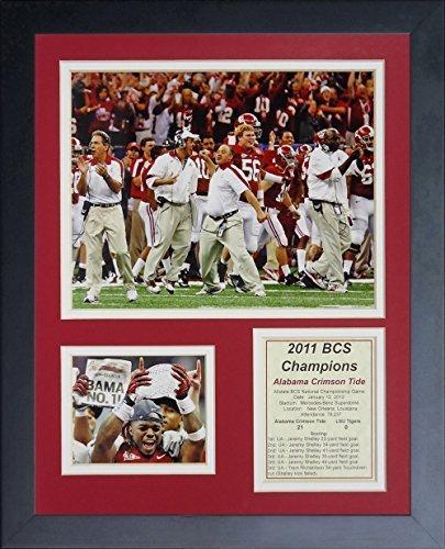 """Legenden Sterben Nie """"2011 Alabama Crimson Tide National Champions"""" gerahmtes Foto Collage, 11 x 35,6 cm von Legends Never Die"""