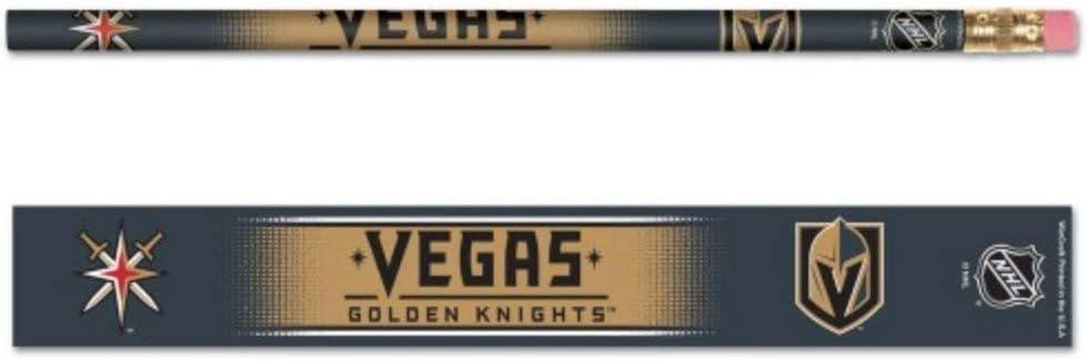 Wincraft NHL Vegas Golden Knights 木製ロゴ鉛筆セット 6本パック