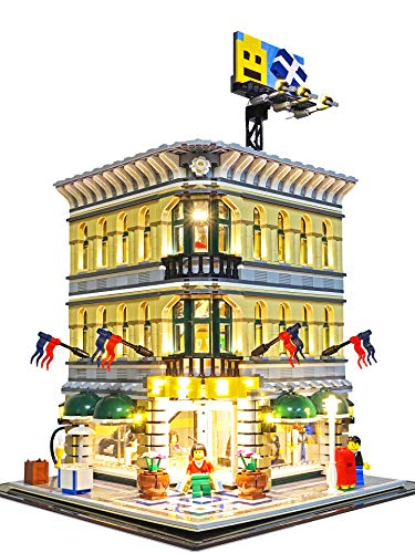 Deluxe Version Lighting Kit for Grand Emporium LEGO set 10211 by Brick Loot (LEGO SET NOT INCLUDED)