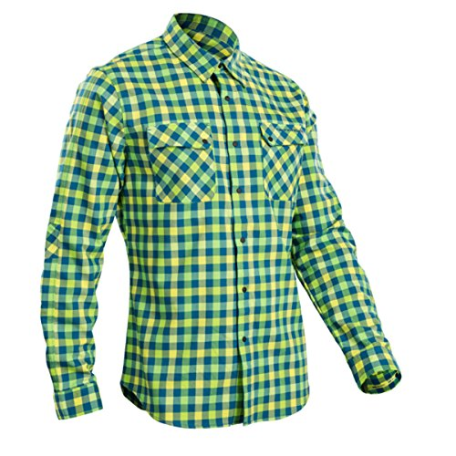 Sugoi 2017 Men's Long Sleeve Bicycle Shop Shirt - U695000M (Baltic/Super Nova - S)