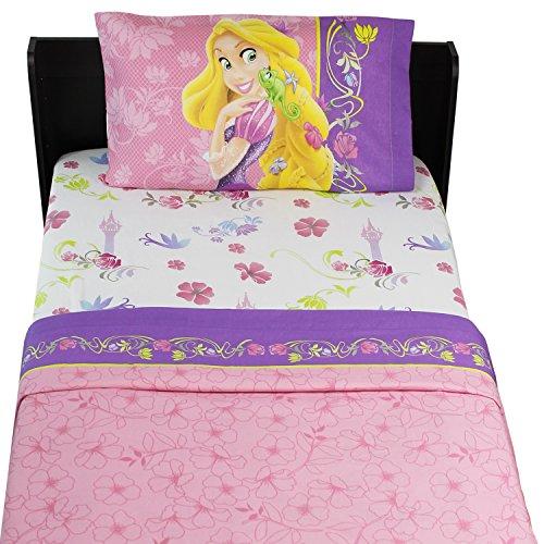 Disney Princess Charming Tangled Twin Bed Sheet Set, 3 Piece
