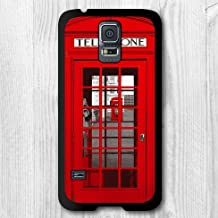 Samsung Galaxy S5 Rubber Case--Vintage Retro London Telephone Booth Protective Cover For Samsung Galaxy S5