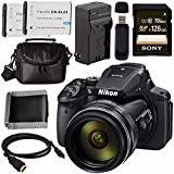 Nikon COOLPIX P900 Digital Camera 26499 + EN-EL23 Lithium Ion Battery + External Rapid Charger + Sony 128GB SDXC Card + Small Case Bundle