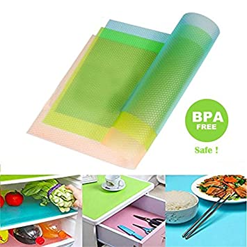 Refrigerator Mats Washable Fridge Mats Liners Waterproof Antibacterial Cabinet  Mat Shelves Placemat Drawer Table Mats 17