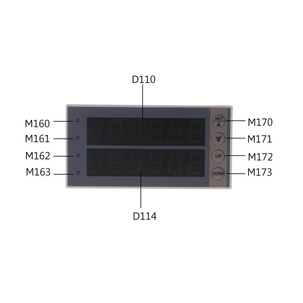 BIlinli PLC FX1N-20MR y Carcasa Tipo riel y Pantalla M/ódulo de rel/é de Pantalla de PLC M/ódulo de retardo 10-28V