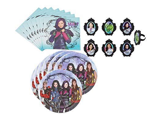 The Descendants Deluxe Cupcake Ring Decorations and Party Supply Pack for 16 Guests