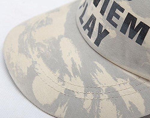 Chapeau Camouflage Casquette Ajustable Acvip Soleil Unisexe De Gris Baseball wHnzfq5