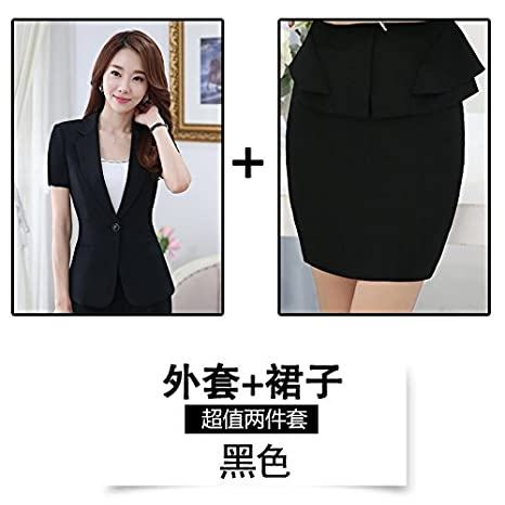 WYMBS Career Women's clothes set low, short-sleeved clothing temperament Sau San b Suits Small Ms. skirt suits Summer BXM*BS
