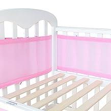 LifeTree Baby Mesh Crib Bumpers , Breathable Crib Liner Airflow Rail Cover