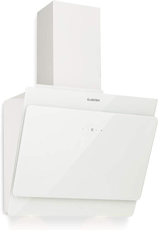 Klarstein Aurica 60 - Campana extractora, Extractor de humos de pared, Ventilación y extracción, 3 niveles, Extracción máxima de 610 m³/h, 60 cm, Blanco: Amazon.es: Grandes electrodomésticos