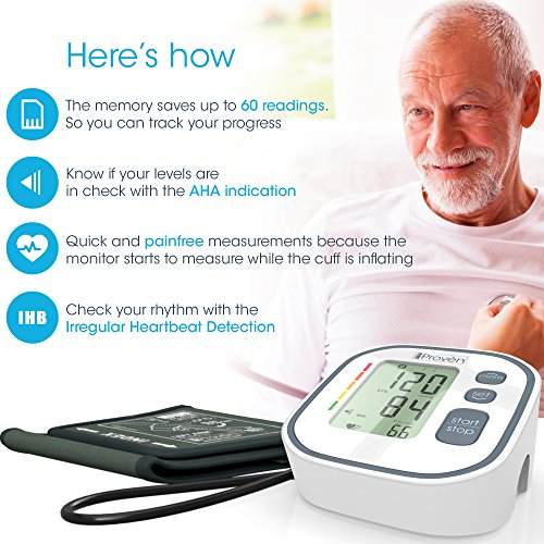 Amazon.com: Best, Fast, Accurate Blood Pressure Monitor for Painless Reading BPM-634WG, Large Screen Upper Arm Cuff Easy Home use - Top Rated BP Monitors ...