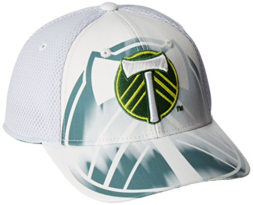 White Structured Adjustable Hat (MLS Portland Timbers Adult Men MLS SP17 Fan Wear White Out Structured Adjustable Cap,OSFM,White)
