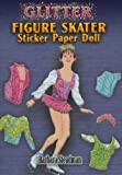 Glitter Figure Skater Sticker Paper Doll
