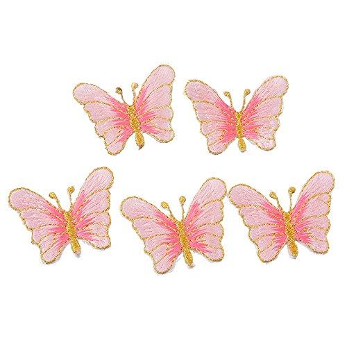 MeineBeauty パッチ 蝶 刺繍 アップリケ ワッペン DIYの商品画像