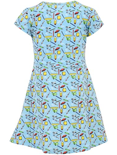 Unique Baby Girls Back to School Dress (6, Blue) by Unique Baby (Image #1)