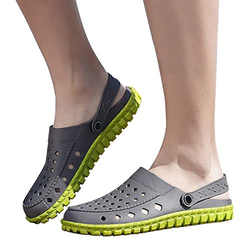 Sandals Slippers Meijunter Sports Casual Shoes Summer Net Mesh Adult Slip Hollow Out Clogs Beach Mens Gray Outdoor Green Anti Breathable Garden p0qwPrUOpx