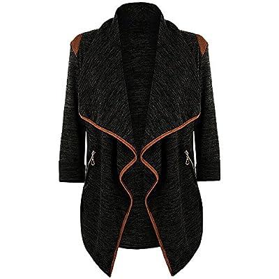 OWMEOT Cardigans for Women Casual Womens Plus Size Long Sleeve Cardigan Jacket Outwear