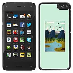 LECELL--Funda protectora / Cubierta / Piel For Amazon Fire Phone -- Estado montañas de invierno impresiones Usa --