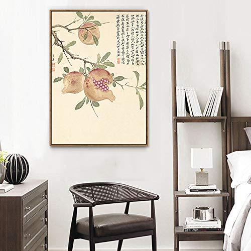 Wohnzimmerdekorationsmalerei Blumenmustermalerei Dekorative Elegante botanische Malerei Chinesische Moderne A Schlafzimmermalerei Wandmalerei Elegante DEED und xqHO8AI