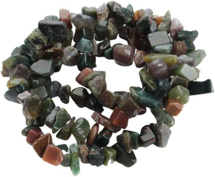 EXCEART Cuentas de Piedra Natural Chips de Ágata Cuentas Sueltas Trituradas Irregulares para Collar Pulsera Joyería Artesanía Diy Semiacabada