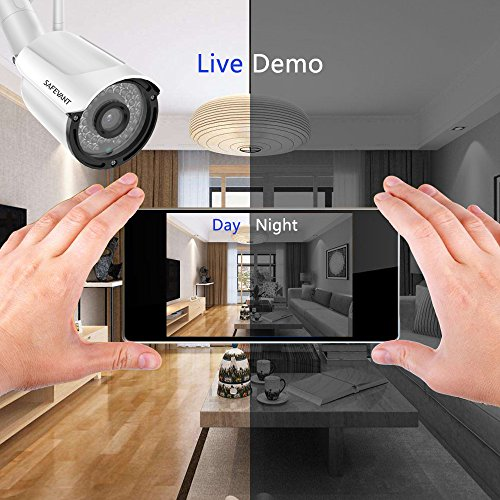 Wireless Security Camera System with 1TB Hard Drive, SAFEVANT 1080P 8 Channel Video Security Systems,4pcs 960P Indoor Outdoor Home IP Cameras Night Vision Motion Detection