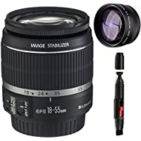 Canon 18-55mm IS Lens (WHITE BOX) + High Definition Telephoto Auxiliary Lens + Deluxe Lens Cleaning Pen