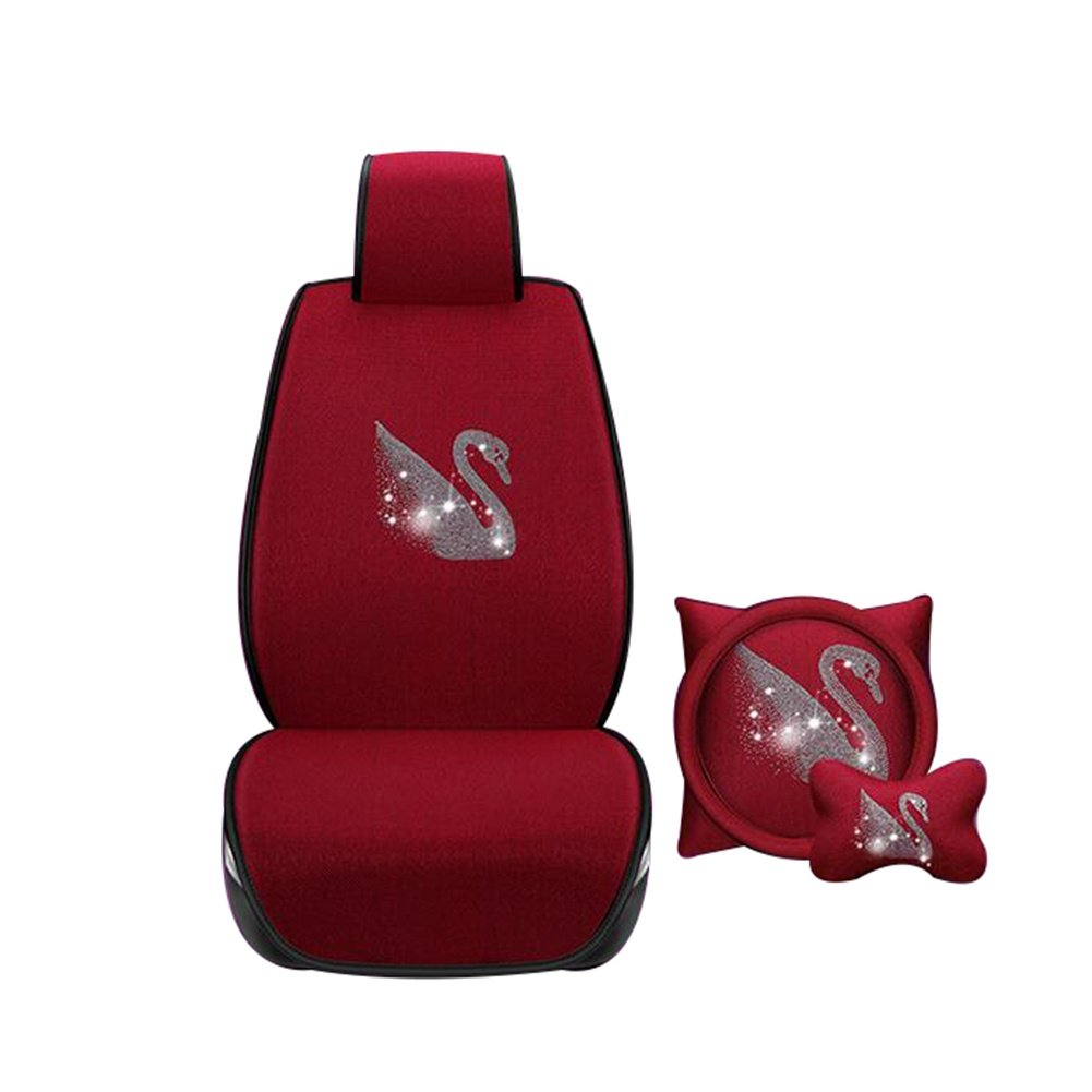 Auto Accessories New Summer Car Seat Free Ice Ice Car Seat Seat Cover Four Seasons Universal Car Accessories, red