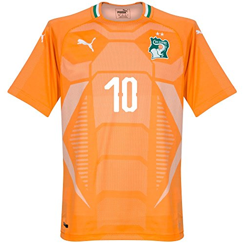 PUMA Ivory Coast Home Gervinho Jersey 2018/2019 (Fan Style Printing) - XL