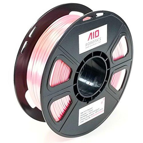 AIO Robotics Filamento de impresora 3D AIOPINKSILK PLA, carrete de 0,5 kg, precisión dimensional +/- 0.02 mm, 1.75 mm, rosa de seda
