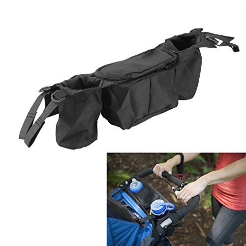 Amazon.com : Dealglad Universal Baby Stroller Buggy Pram Pushchair Cup Bottle Holder Organizer Hanging Storage Bag Pouch Black : Baby