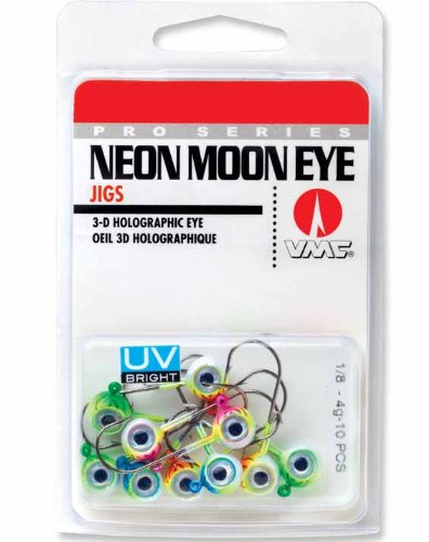 Neon Eyes - VMC Neon UV Bright Moon Eye Jig Kit - 1/4 oz