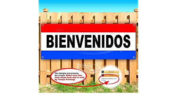 Many Sizes Available Flag, Store Attencion Gasolinera 13 oz Heavy Duty Vinyl Banner Sign with Metal Grommets Advertising New