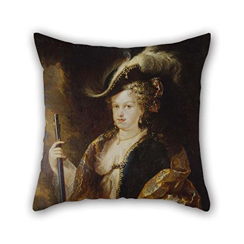 Pillowcover Of Oil Painting Mel??ndez, Miguel Jacinto - Maria Luisa Gabriela Of Savoy, Huntress 20 X 20 Inches / 50 By 50 Cm Best Fit For Drawing Room Teens Girls Study Room Son Teens Both Sides