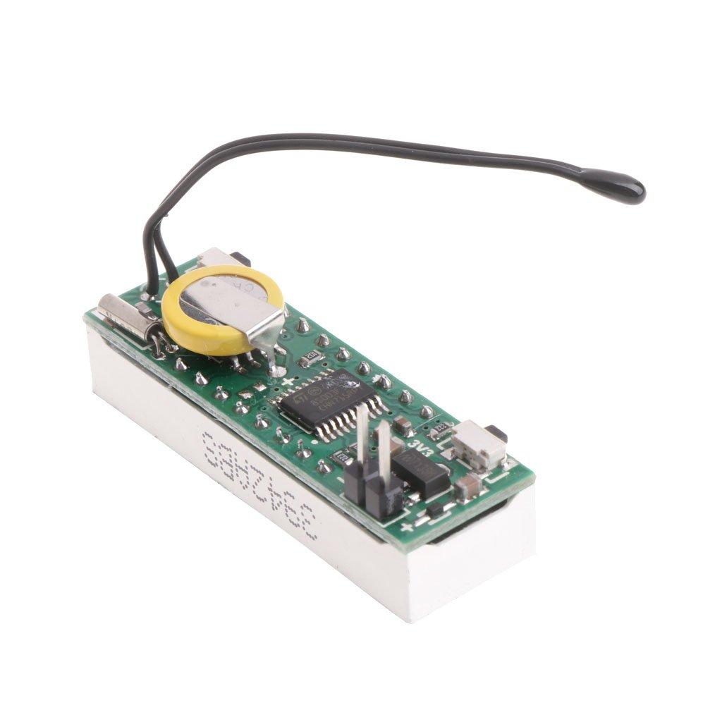 * 012 Jimtw-uk 3/en 1 20/V Digital Car LED Horloge /électronique temps Temp/érature Tension M/ètre 12/V 5