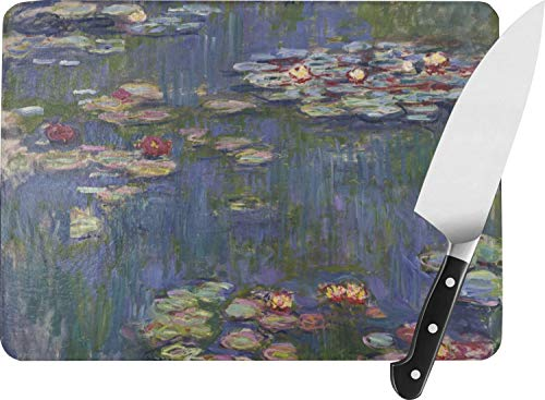 - Water Lilies by Claude Monet Rectangular Glass Cutting Board - Large - 15