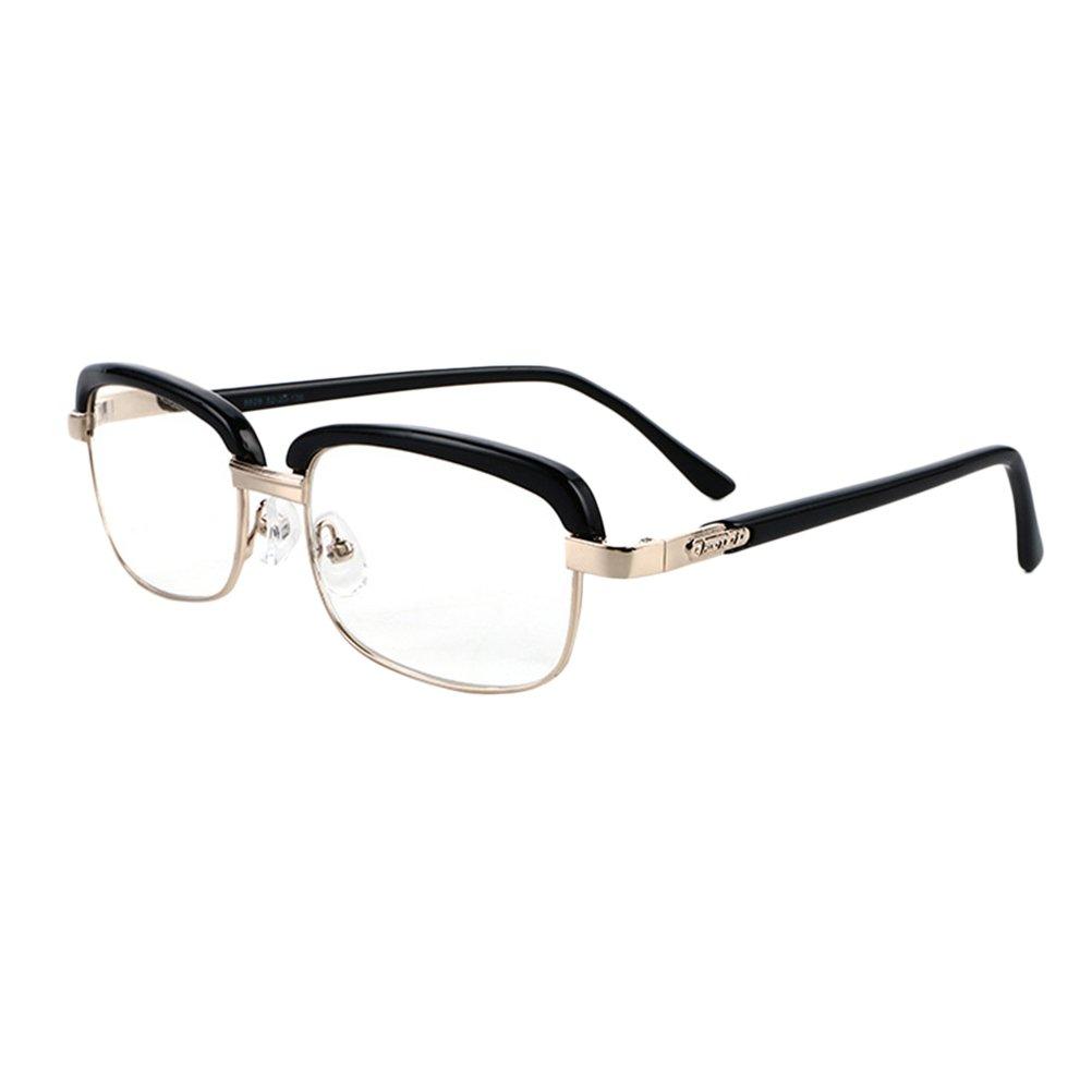 Zhhlinyuan Lesebrille Herren Damen - Lightweight Mens Readers Black Square Eyeglasses Magnification 2.0 1.5 1.0 4.0 2.5 3.00 Strength Reading Glasses Retro