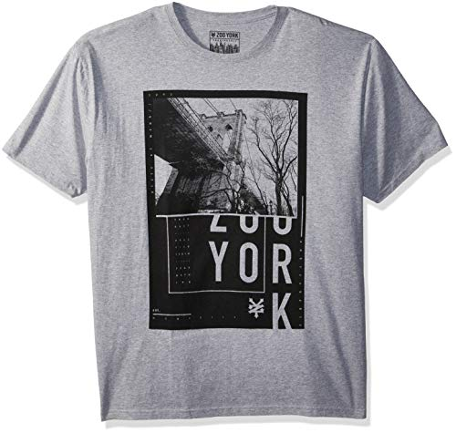 - Zoo York Men's Short Sleeve Logo Tee, Grey Heather, Medium