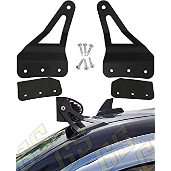 """GS Power 2007-2013 Chevy & GMC Curved (choices of 50"""" / 52"""" / 54"""") LED Light Bar Brackets. Mount off road work lights at roof windshield. Fit Chevrolet Silverado Suburban Avalanche Tahoe Yukon Sierra"""