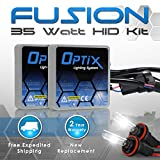 Optix 35W HID Xenon Headlight Conversion Kit Slim Digital Ballast - 1 pair - H11 - 6K 6000K Diamond White