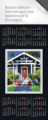 Amazon 2018 card style real estate calendar magnets year at 2018 card style real estate calendar magnets year at a glance reheart Choice Image
